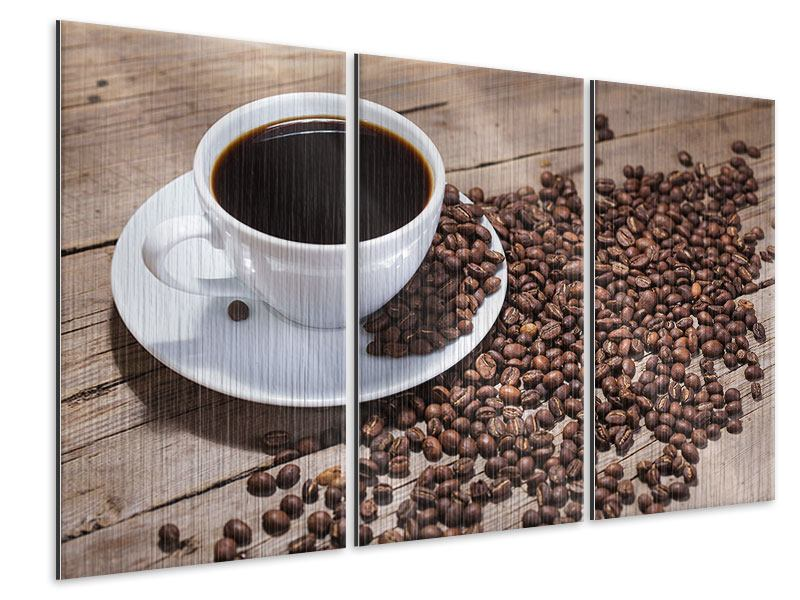 3 Piece Metallic Print Coffee