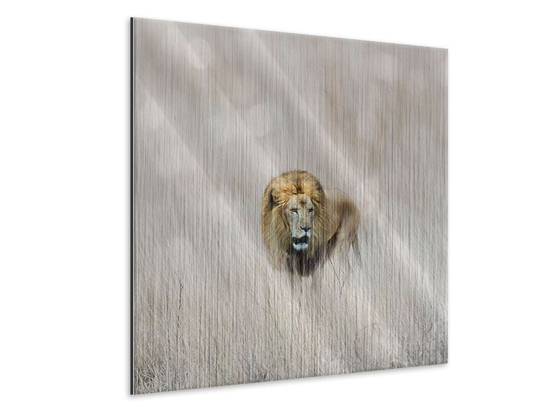 Metallic Print The Lion