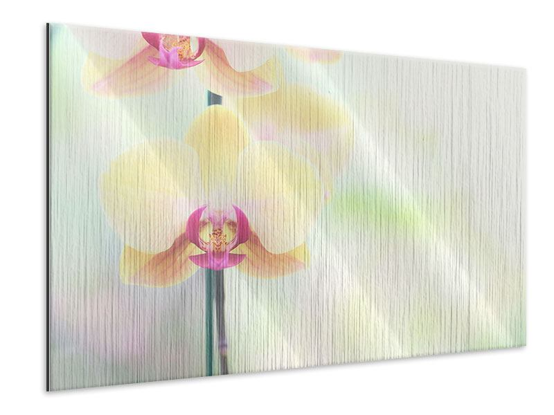 Metallic Print Lovely Orchid