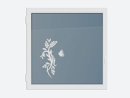 Decorative Window Film butterfly plant