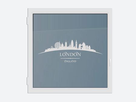 Películas de ventana decorativos Skyline London