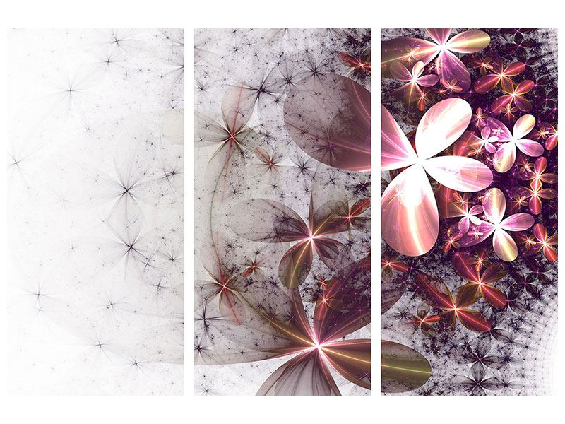 3 Piece Poster Abstract Floral