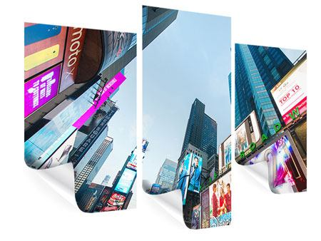 Poster 3-teilig modern Shopping in NYC