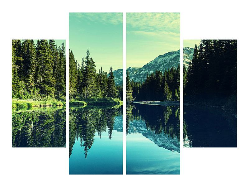 4 Piece Poster The Music Of Silence In The Mountains
