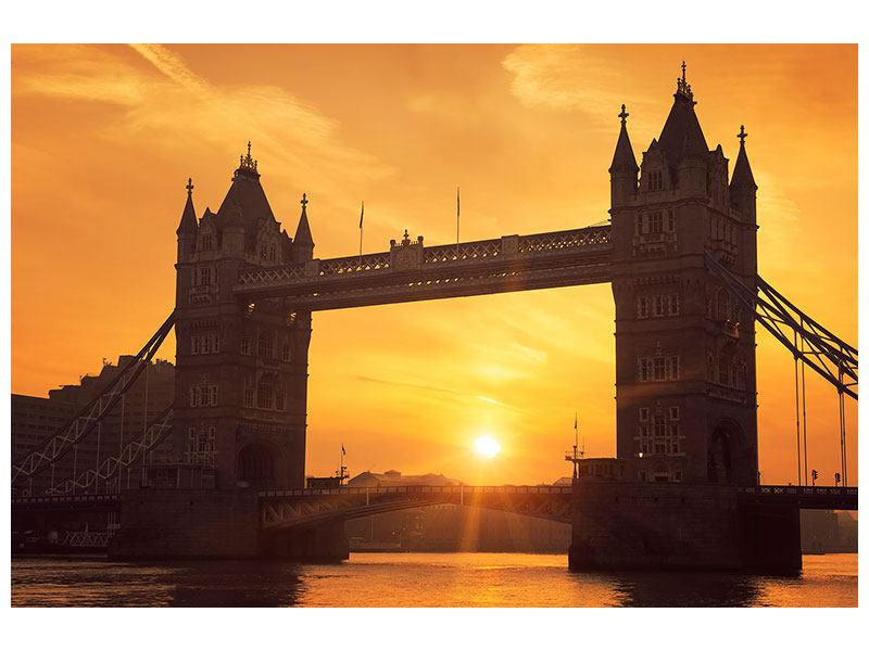 Poster Sonnenuntergang bei der Tower-Bridge