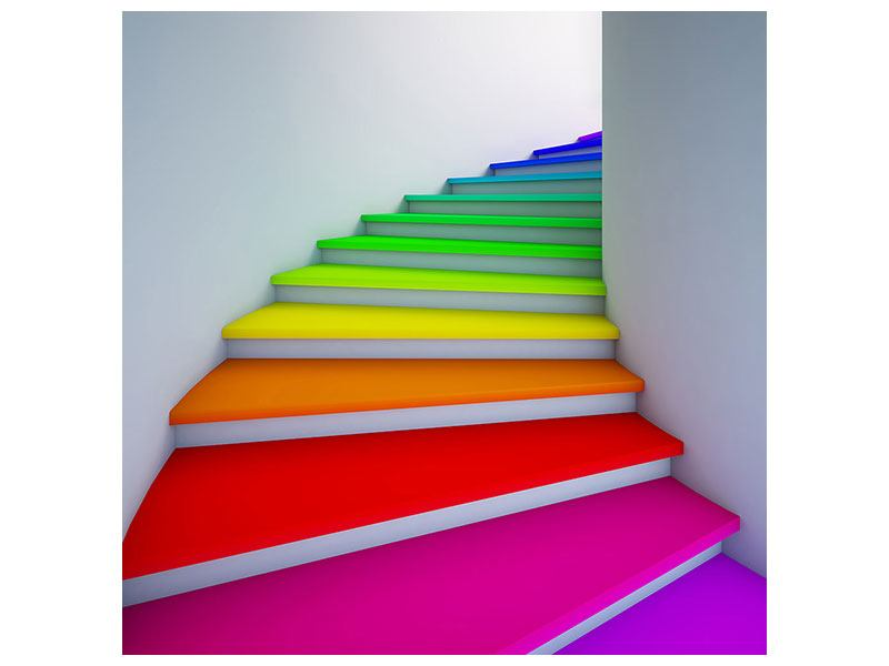 Poster Colorful Stairs