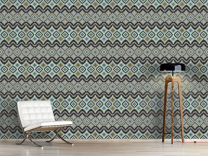 Design Wallpaper Ethnic Patches