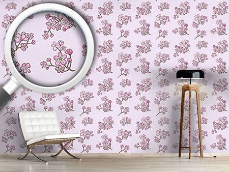 Design Wallpaper Apricot Blossoms