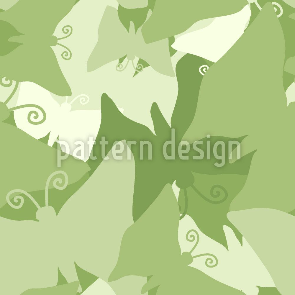 Papier peint design The Journey Of The Green Butterflies