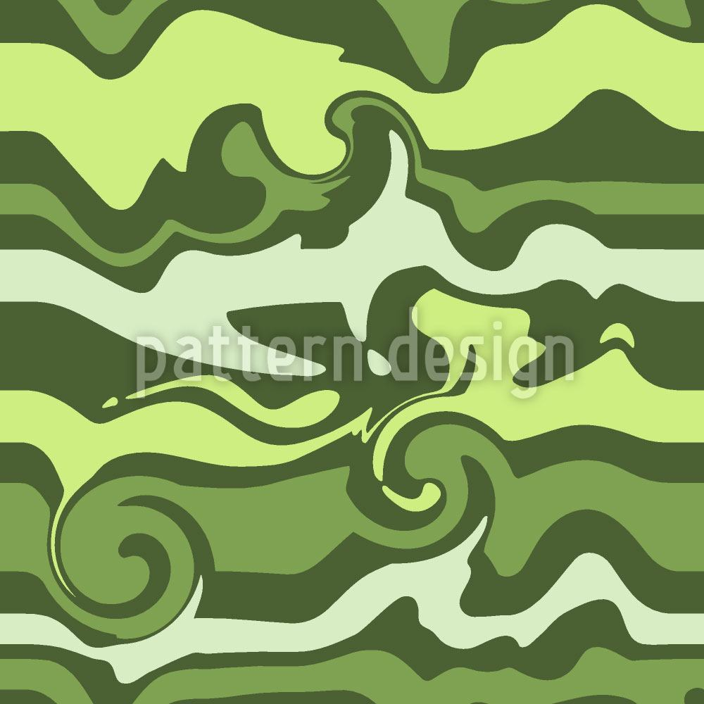 Design Wallpaper Green Wave Chaos