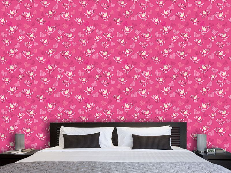 Design Wallpaper Birdie In Love
