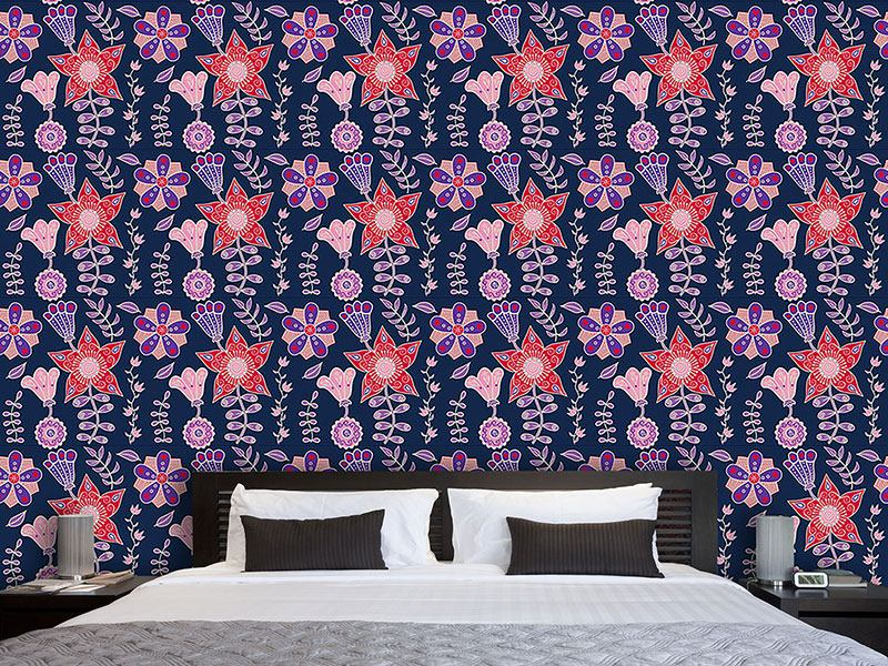 Design Wallpaper Night Flowers Of Kutna Hora