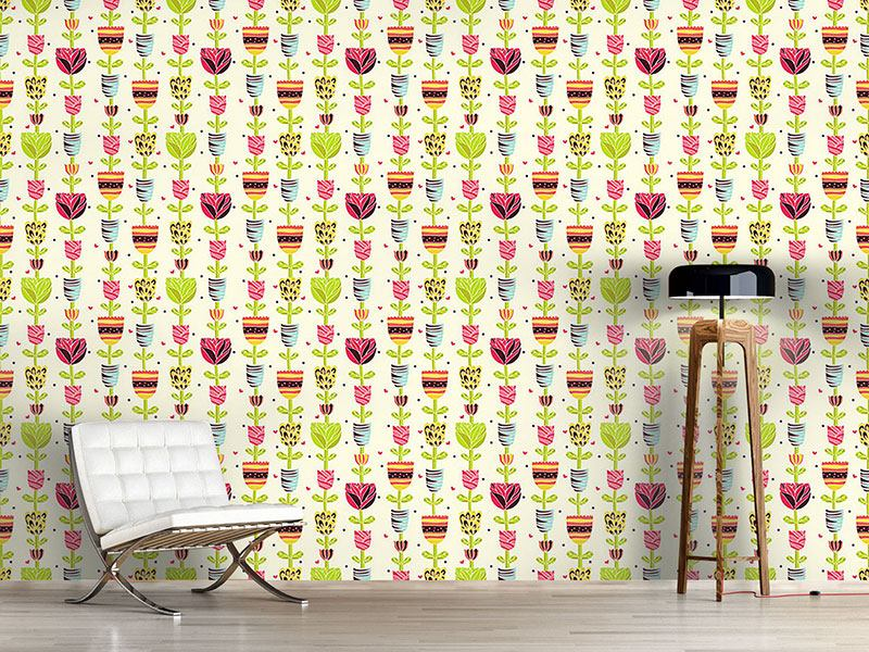 Design Wallpaper Flower Chains In Summer