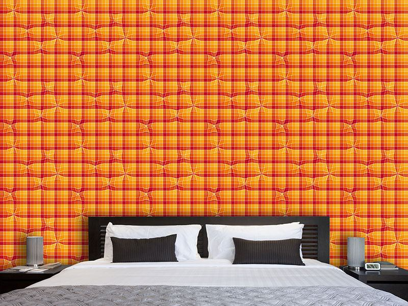 Papier peint design Under The Checkered Towel