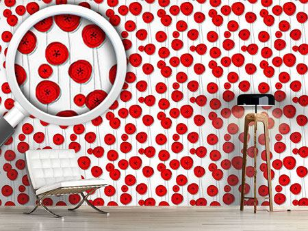 Papel tapiz de diseño Poppy Flowers On Wire