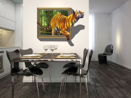 Wall Sticker Tiger Outbreak