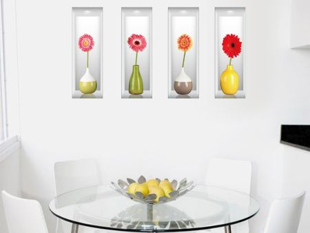 Wall Sticker 3D Flower Vases