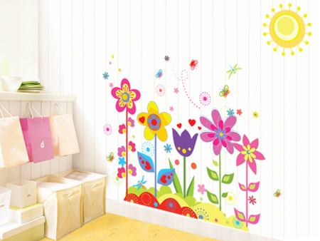 Wall Sticker Cartoon Flowers