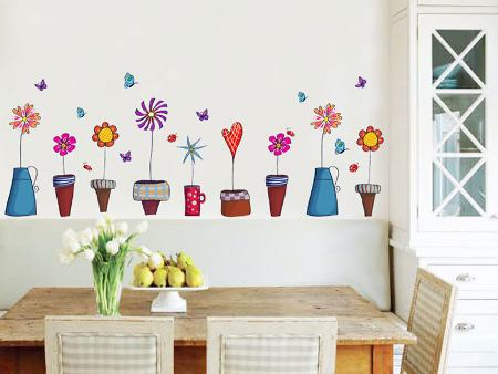 Wall Sticker Flowerpots