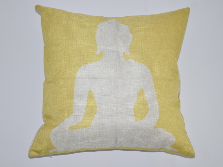 Cushion Cover Buddha yellow
