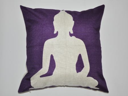 Cushion Cover Buddha Purple