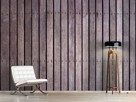Photo Wallpaper Wood Wall