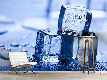 Photo Wallpaper Ice Cubes