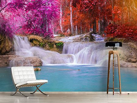 Photo Wallpaper Paradisiacal Waterfall