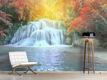 Photo Wallpaper Waterfall In Light