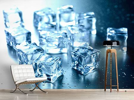 Photo Wallpaper Many Ice Cubes
